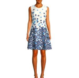 Karl Lagerfeld Paris sleeveless floral flare dress